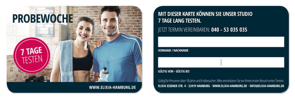 Probewoche in einem Fitnessstudio in Hamburg