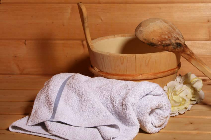 Sauna-Aufguss immer montags und mittwochs