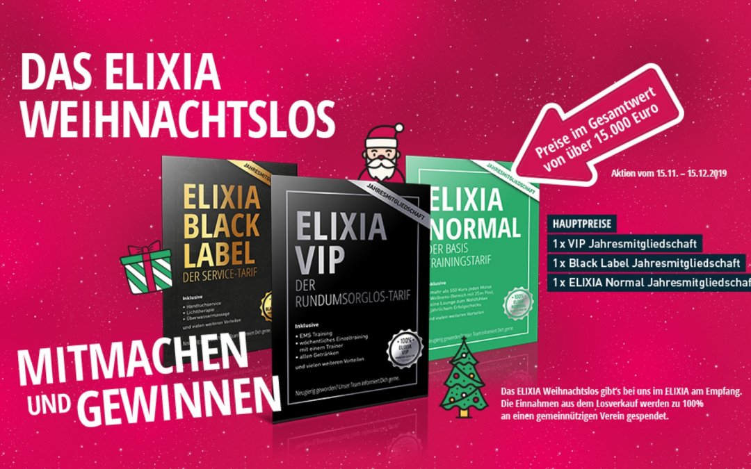 Das ELIXIA Weihnachtslos vom 15.11. bis 15.12.2019