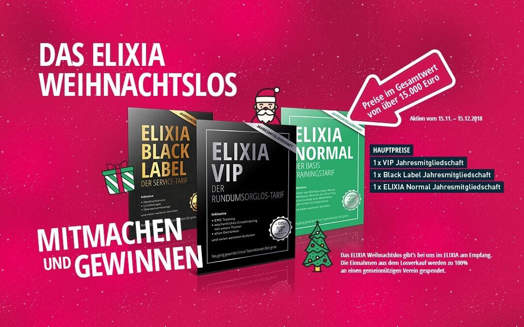 Das ELIXIA Weihnachtslos vom 15.11. bis 15.12.2018