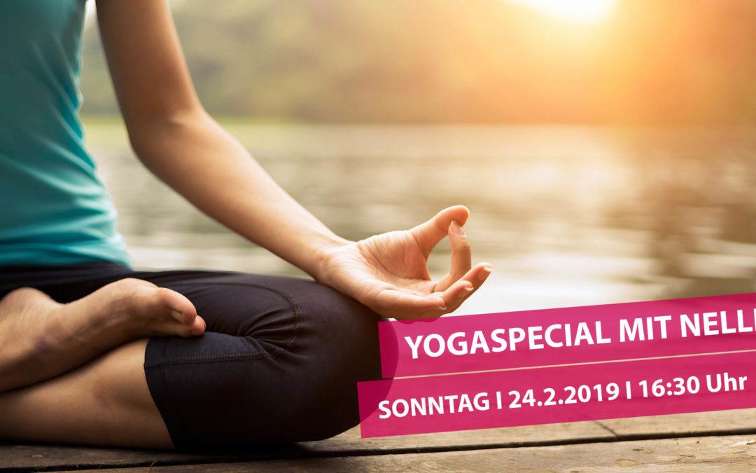 Yogaspecial am 24.02.2019 von 16.30-18.30 Uhr mit Nelli