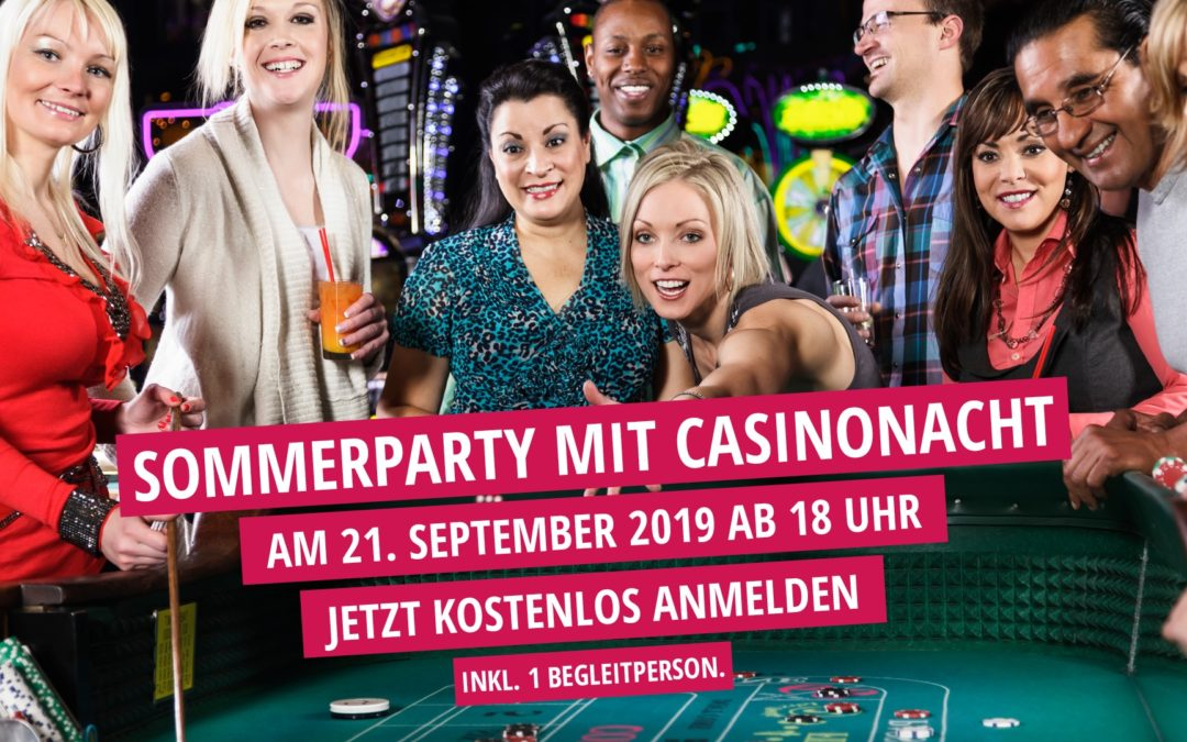 ELIXIA Sommerparty mit Casinonacht am 21.09.2019