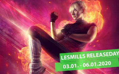 LesMills RELEASEDAYS vom 03.01.-06.01.2020
