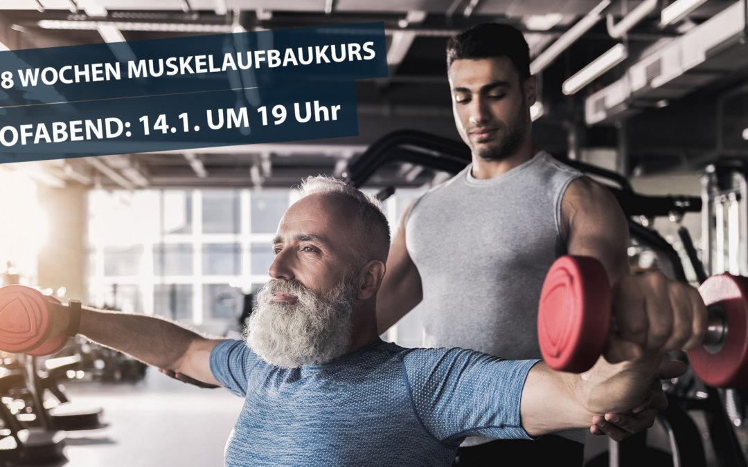 8 Wochen Muskelaufbaukurs für Männer