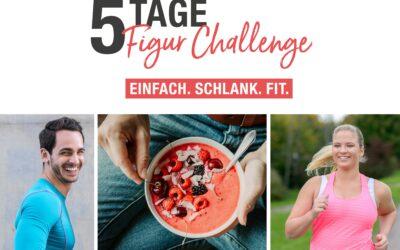 Fit und schlank in den Frühling – das ist das Motto der 5-Tage-Figur-Challenge!